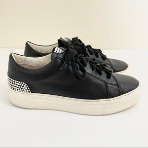 AGL Black Pearl Sneakers Leather Platform, Size 40